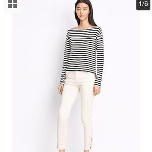 Vince NEW military skinny white pants